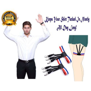 Unisex Shirt Stay Shirt Suspenders ,Shirt Garter Keeper With Non-slip Locking Clamps.FEEL GOOD, LOOK SMART.SHARE WITH FRIENDS, COLLEAGUES