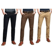 Three In One Smart Chinos Black + Chocolate Brown + Brown