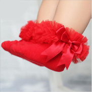 New Baby Girls Kids Princess Bowknot Lace Ruffle Frilly Trim Cotton Ankle Socks