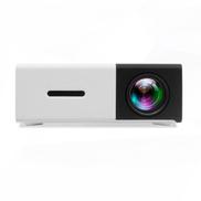 Home Mini Projector 320240p Support 1080p AV, USB, SD Card, HDMI Interface -Black White