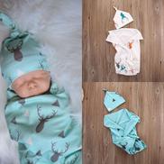 Newborn Baby Soft Stretch Wrap Swaddle Blanket Bath Towel