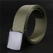 Wild-Men-Canvas-Belt-Hypoallergenic-Metal Free-Plastic-Automatic-Buckle AG