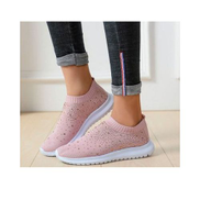 Beautiful Socks Sneakers-Peach