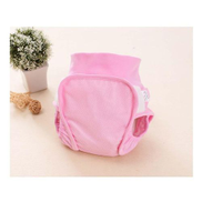 Baby Diapers Reusable Nappies Cloth Diaper Washable Mesh Nappy Newborn Spring Autumn Breathable Diapers Infant Cotton - Pink