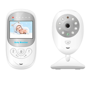 BM-108 2.4 Inch LCD 2.4GHz Wireless Surveillance Camera Baby Monitor With 8-IR LED Night Vision, Two Way Voice TalkWhite