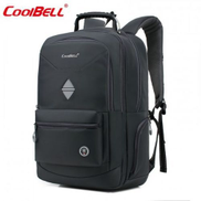 Coolbell CoolBELL Backpack Travel Bag With USB Charging Cable Fits 18.4 Inch Laptop For Men Women Black