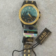 Radi Excellent Ladies Women Black With Touch Of Gold Wristwatch