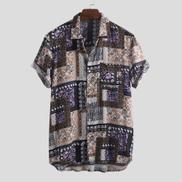 Incerun Mens Floral Pattern Short Sleeve Casual Shirt