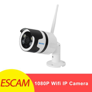 Escam QF508 1080P HD 2MP Wifi IP Camera Waterproof Home Surveillance Security 3.6mm Infrared Detection Bullet Camera 128g 1.6mm WTS