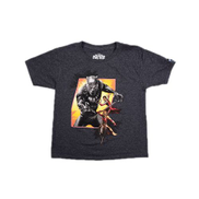 Marvel Black Panther Front And Back Graphic Tshirt - Grey