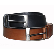 100 Leather 2in1 Brown And Black Belt