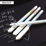 4pcs lot 0.8mm White Ink Photo Album Gel Pen Pen Stationery