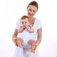 Summer Breathable Mesh Cloth Cross-over Baby Sling Strap Multi-function Baby Child Strap - White