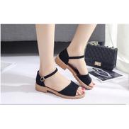 New Ladies Wedge Sandals Women Shoes-Black