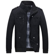 Men's Autumn And Fall Stand Colllar Outerwear Jacket Coat