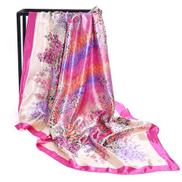 Bandana Scarf Women's Wear Office Lady Beach Muslim Hijab Girl Turban Shawl Pink