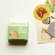 3 Sets Cartoon Series Sticker Album Scrap Stamp Sticker Stationery School SuppliesLive Like A Cat