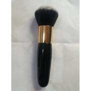 Powder Brush With Wood Handle Black
