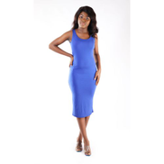 WittyMay Apparels Blue Bodycon Singlet- In Lycra
