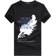 Asstd Private Brand Short Sleeve T-Shirt Men's Slim Print Round Neck Cotton