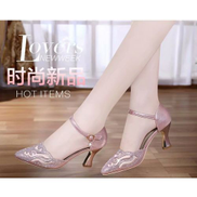High-heeled Sandals 2019 New Ladies Summer Pointed Stiletto-Rose Gold
