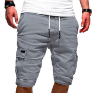 Multi-pocket Ankle-tied Knee Length Pants Casual Shorts