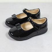 Teenage Girl's Bow Knot Shoe-Black