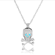 Women Luminous Halloween Skull Link Chain Necklaces For Male Necklace Neckless Vintage Colar Masculino Hip Hop Dance
