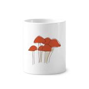 Cartoon Mushroom Line Illustration Pattern Holder Cup