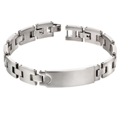 Fred Bennett B5117 Mens Stainless Steel ID Bracelet