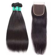 Feji's Empire Straight Human Hair, 300g + Closure